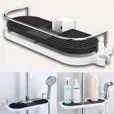 Bath Towel Tray Home Single Tier Shampoo Shower Head Holder Bathroom Shelf Shower Storage Rack Holder