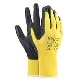 12ペアPUニトリルコーティング安全作業手袋ガーデン建設グリップスリップ防止サイズM / L / XL