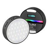 VIJIM R66 2500-9000K RGB LED lumières vidéo Studio de photographie vidéo lumière de remplissage à intensité variable pour appareil photo reflex numérique téléphone portable diffusion en direct Selfie