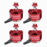4X Racerstar 2207 BR2207S Edição De Incêndio 2200KV 3-6 S Motor Brushless Para RC Zangão FPV Racing Quadro Kit