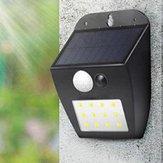 تعمل بالطاقة الشمسية 12 LED PIR Motion المستشعر Wall ضوء Ourdoor ضد للماء Garden Courtyard Security Lamp 3 ضوءing