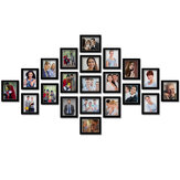 21Pcs Creative Cardboard 7 inch Photo Wall DIY Combination Photo Frame