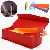6 inch optisch glas driehoekig driehoekig prisma in doos fysica onderwijs licht spectrum