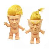 6 * 9 * 10 cm dik geel haar twee soorten stijl ontwijken lijm trol pop voor vent speelgoed