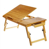 折り畳み式のラップトップデスクスタンドベッドサイドテーブルPCコンピューター本調節可能なマウストレイ