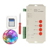 DC5-24V T1000S SD Card LED Pixel RGB Full Color Controller para WS2812B 6803 WS2811 Strip Light