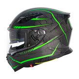 SOMAN 24Kカーボンファイバー蛍光オートバイヘルメットフルフェイスモトキャスコモーターバイクレーシングキャスクサイクリングCapacete SOMAN X7
