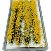 28Pcs Mini Flower Cluster Glas Miniaturmodell DIY Landschaft Landschaft Sand Tischdekoration