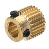 Engrenagem da roda da extrusão de bronze dos dentes 5mm de JGAURORA® 26 para a impressora 3D