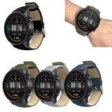 Bakeey 22mm Canvas Leather Smart Watch Banda Correia de substituição para Xiaomi Watch Color