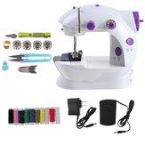 Máquina de costura elétrica portátil recarregável Máquina de costura doméstica multifuncional