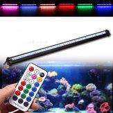 25cm rgb smd5050 rigide LED bande de lumière air bulle aquarium fish tank lampe + contrôle à distance ac220v
