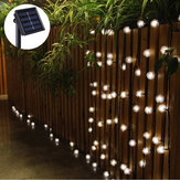 5M 20 LED solare Power Snow Ball Fairy String Light Outdoor Garden lampada Decorazioni per feste natalizie