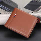 PU Leather Thin Card License Holder Multi Card Slot Retro Business Leather Wallet For Men