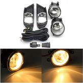Pára-choques dianteiro claro luzes de nevoeiro com wiringharness interruptor lâmpada cobre para toyota camry 07-09 H11 par