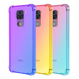 Bakeey for Xiaomi Redmi Note 9 / Redmi 10X 4G Case Shockproof Anti-Scratch Translucent Gradient with Air Bags TPU Protective Case Non-original