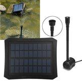 7V Solar Power Brunnen Pool Wasser Pumpe Satz Timer / LED Licht Gartenteich Tauchboot Pumpes