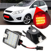 LED Under Mirror Mirror Puddle ضوء Red إلى عن على Ford Mondeo MK4 Focus Kuga Escape C-Max