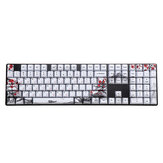 MechZone 110 Keys Plum Blossom Keycap Set OEM Profile PBT Sublimation Keycaps for Mechanical Keyboards