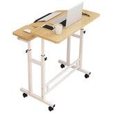 Mesa para laptop com altura ajustável Mesa para computador em pé com roda Mesa de cabeceira móvel para escritório