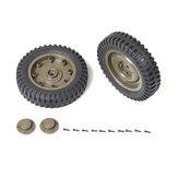 ROCHOBBY Front/Rear Wheel For 1/6 2.4G 2CH 1941 MB SCALER RC Car Waterproof Vehicle Models Parts