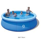 JILONG 360x76cm1-6人の子供と大人のための地上の膨脹可能な浴槽のプール
