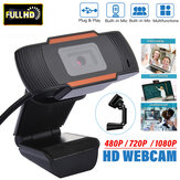 HD Webcam Auto Focusing Web USB 2.0 Camera With Microphone For Laptop Desktop
