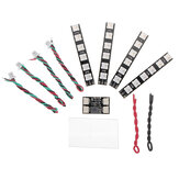 4 PCS WS2812 LED Strip Light 2-6S 7 cores comutáveis com placa controladora LED para RC Drone FPV Racing