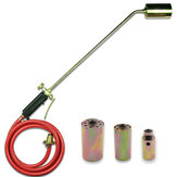Weed Burner Kit Shrub Weed Grass Killer Butane Gas Torch Garden Tools + 3 Nozzle