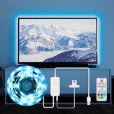 BlitzWolf® BW-LT32 2M USB RGB TV Strip Light Kit Sincronización con pantalla de TV Color Cubierta de 3 lados para TV Efecto de iluminación de color RGB vívido y control simple dual