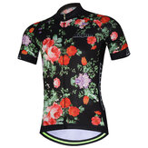 AOGDA Hommes Femmes Rose Short Sleeve Cycling Jersey Sports de plein air Summer Polyester Mesh Respirant