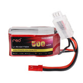 Red 7.4V 500mah/850mAh 2S 25C JST Plug Lipo Battery RC Car Models Spare Parts