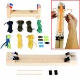 IPRee®DIYJigSolidLegnaParacord Braccialetto Maker Knitting Tool Wristband tessitura dispositivo intrecciatura