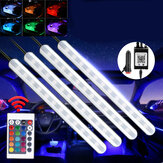 DC12V 10W Car Atmosphere Light USB Colorful Music Voice Control LED Rigid Strip Lamp + Remote Control