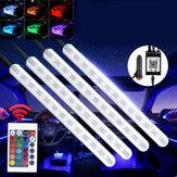 DC12V 10W جو السيارة ضوء USB Colorful موسيقى صوت مراقبة LED مصباح قطاع صلب + التحكم عن بعد مراقبة