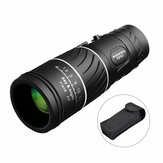16x52 Day Night Vision Dual Focus Full Optics Zoom Telescópio Monocular Com Clipe de Telefone Móvel + Tripé