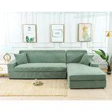 Trecho verde Elástico Sofá Capa Sólida Antiderrapante Soft Slipcover Sofá Lavável Protetor de Móveis para Sala de Estar