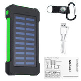 4000mah Intelligent Solar Panel Charger Solar Power Bank LED 2 USB Battery Charger Waterproof