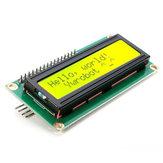 5st IIC / I2C 1602 Geelgroene achtergrondverlichting LCD-displaymodule Geekcreit voor Arduino - producten die werken met officiële Arduino-boards