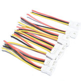 10 PCS JST-SH 1.25mm 3Pins 3P Soft Silicone Plug Connection Cable Wire for RC Drone FPV Racing