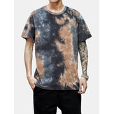 Tie-Dye Cotton Mens Short Sleeve Breathable T-Shirts