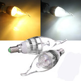 E14 3W Dimmable 300-330LM LED ampoule de bougie de lustre 220V