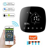 BECA BHT-001 AC95-240V Tuya Round Shape WiFi Smart Thermostat Temperature Controller for Water/Electric Floor Heating Water/Gas Boiler Support IOS Android Works with Voice Control Alexa Google Assistant Voice Control 0.5°C Degree Accuracy