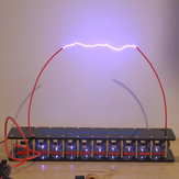 6 níveis Marx Generator Cool Artificial Flash Arc High Voltage Student Experiment Dispositivo DIY