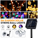 20 LEDs Solar String Ball Lights Garden Decor Lamp Outdoor Waterproof Warm White / Multi-Color