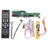 Digital Signal M3663.03B DVB-T2 Universal LCD TV Controller Driver Board TV/PC/VGA/HDMI/USB+7 Key Button+1ch 6bit 30pins LVDS Cable+1 Lamp Inverter