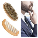 Beard Brush Comb Kit Facial Mustache Shaving Natural
