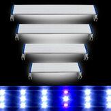 Super Тонкий Светодиоды Аквариум Освещение Aquatic Растение Light 20-60CM Extensible Водонепроницаемы Клип на Лампа Для аквариума Синий Белый свет