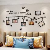 3D Acrylic Photo Frame Wall Sticker Bedroom TV Background Home Office Decorative