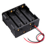 8 Slots AA Battery Holder Plastic Case Storage Box for 8*AA Battery